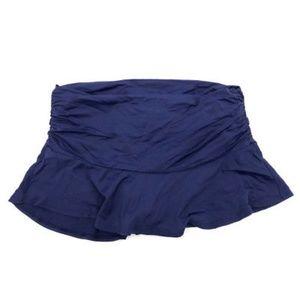 Lands End Swim Skirt 8 Ruched Waist Bottom Bathing